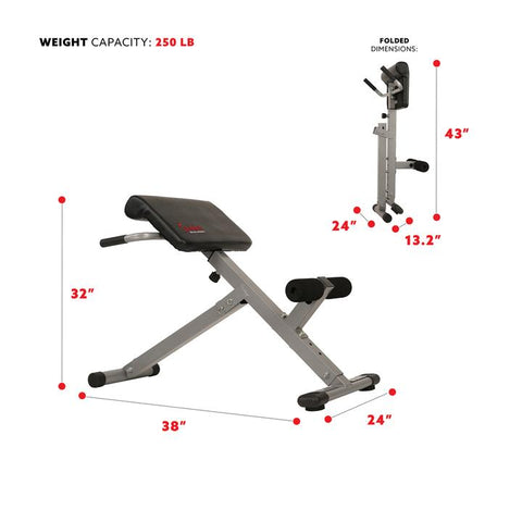 Image of Sunny Health & Fitness 45 Degree Hyperextension Roman Chair