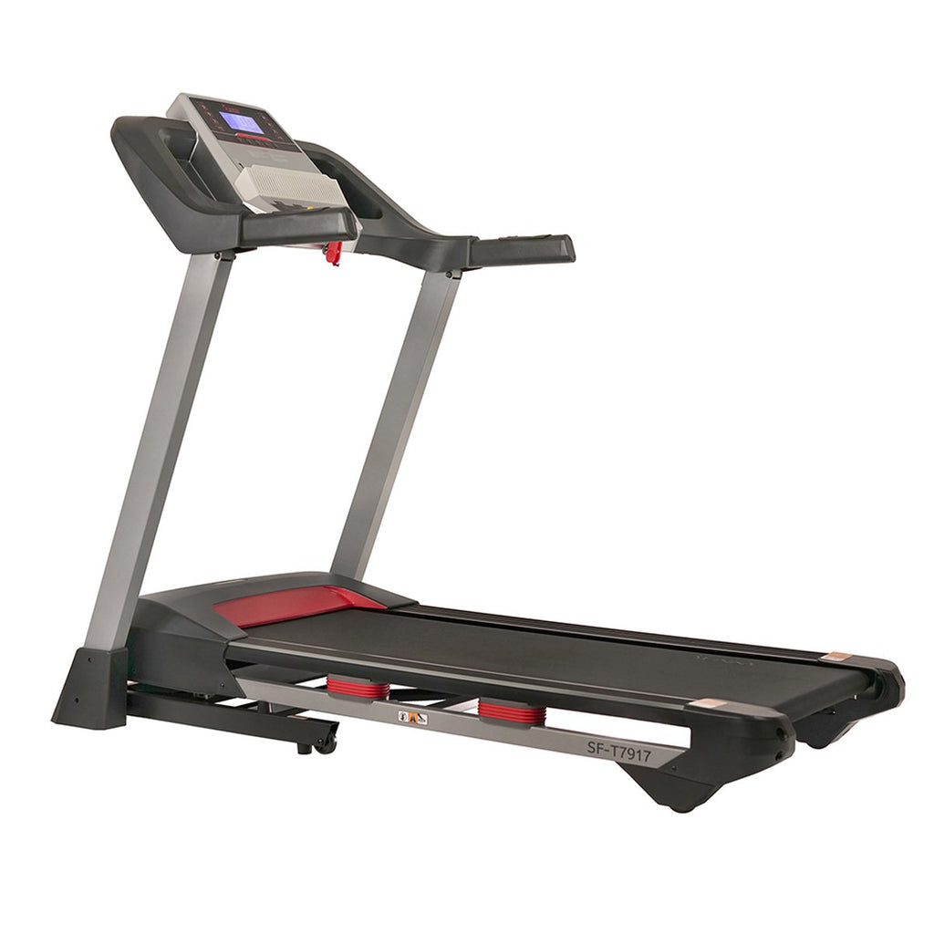 Sunny Health & Fitness Incline Treadmill with Bluetooth Speakers and USB Charging Function