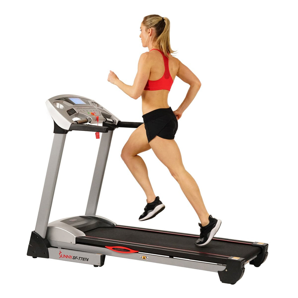 Sunny Health & Fitness Performance Treadmill High Weight W/ 15 Levels, Auto Incline, MP3 and Body Fat Function