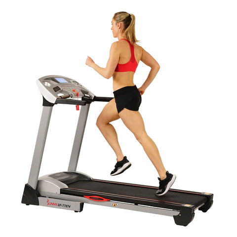 Image of Sunny Health & Fitness Performance Treadmill High Weight W/ 15 Levels, Auto Incline, MP3 and Body Fat Function