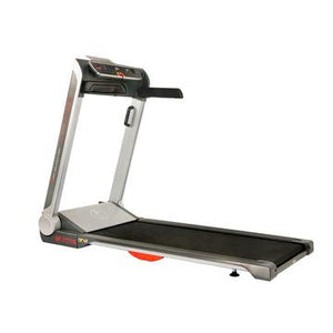 "Sunny Health & Fitness Running Treadmill, 20"" Wide Belt, Flat Folding & Low Pro for Portability W/ Speakers and USB"