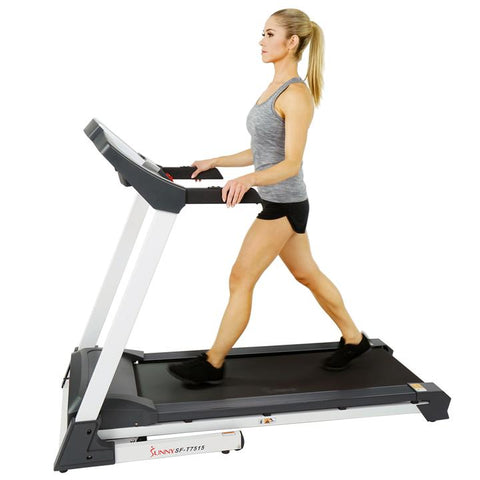 Image of Sunny Health & Fitness Smart Treadmill W/ Auto Incline, Sound System, Bluetooth and Phone Function