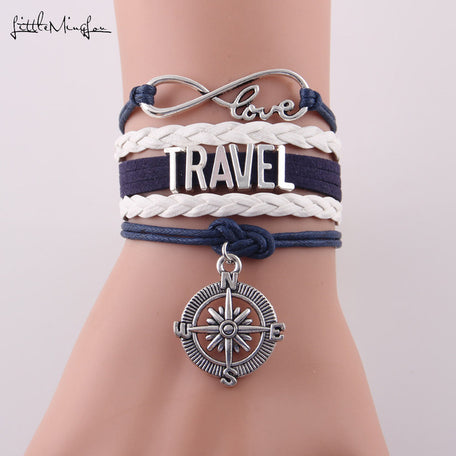 Infinity Love Travel Leather Bracelet