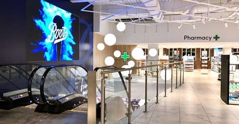 Digital Advertising Screens boost Boots' flagship store.