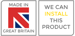 Made in Great Britain. We can install