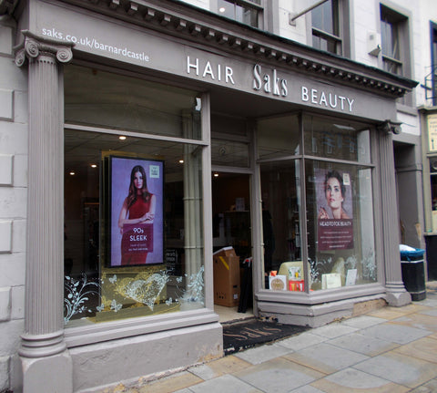 bespoke beauty salon window display