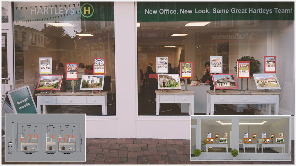 Mid West Displays advertising display design service example layout.