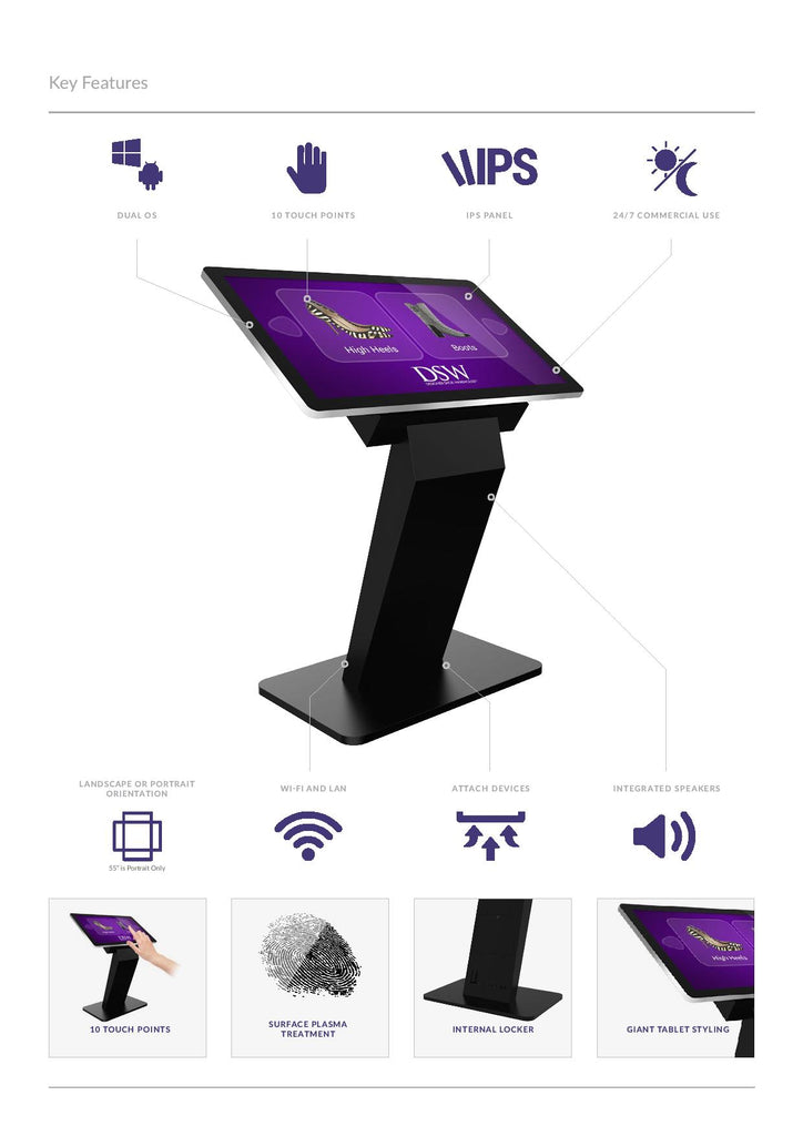 touch screen kiosk specification