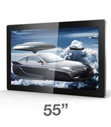 "55"" android advertising display media player"
