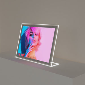 backlit led frame for counter