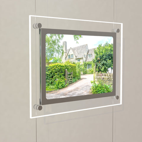 A4 Landscape Bevelled Edge LED Light Pocket Kit