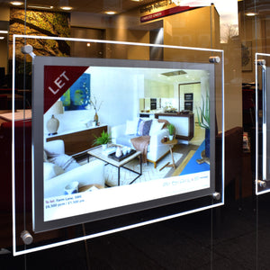 estate agent window display
