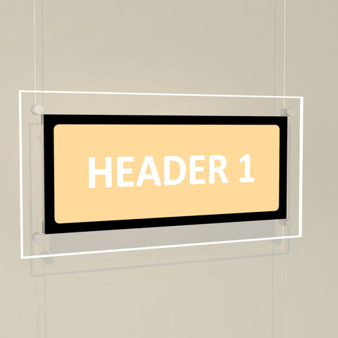 Bevelled Edge LED Header Panels
