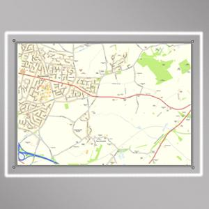 LED Illuminated Wall Maps A0