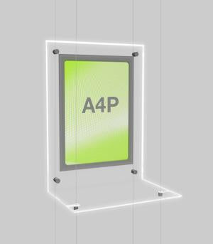 Illuminated Display Shelf & Sign Holder A4
