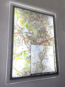 LED illuminated map