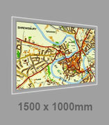 LED Illuminated Wall Maps 1500x 1000mm