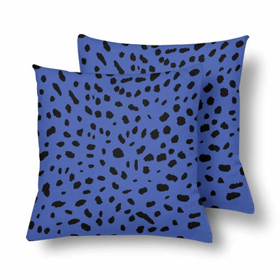 18 x 18 Throw Pillows (2) - Custom Cheetah Pattern - Blue Cheetah - Housewares cheetahs housewares pillows