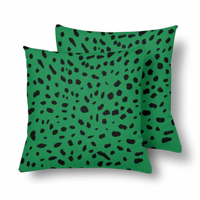 18 x 18 Throw Pillows (2) - Custom Cheetah Pattern - Green Cheetah - Housewares cheetahs housewares pillows