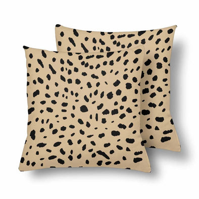 18 x 18 Throw Pillows (2) - Custom Cheetah Pattern - Tan Cheetah - Housewares cheetahs housewares pillows