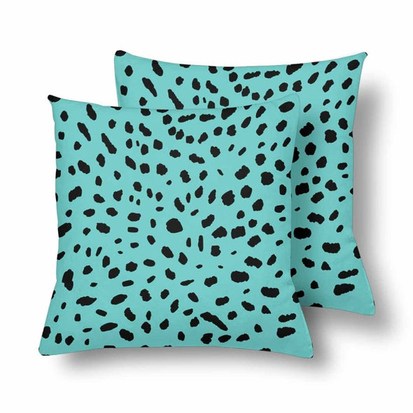18 x 18 Throw Pillows (2) - Custom Cheetah Pattern - Turquoise Cheetah - Housewares cheetahs housewares pillows