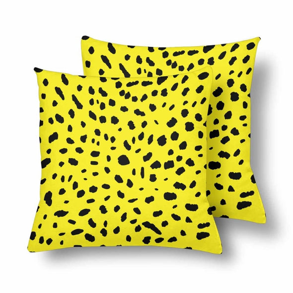 18 x 18 Throw Pillows (2) - Custom Cheetah Pattern - Yellow Cheetah - Housewares cheetahs housewares pillows
