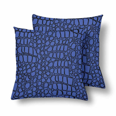 18 x 18 Throw Pillows (2) - Custom Crocodile Pattern - Blue Crocodile - Housewares crocodiles housewares pillows