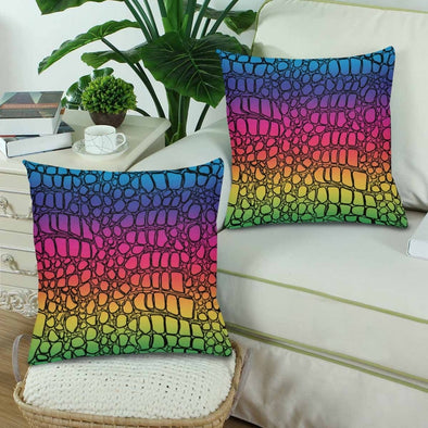 18 x 18 Throw Pillows (2) - Custom Crocodile Pattern - Housewares crocodiles housewares pillows