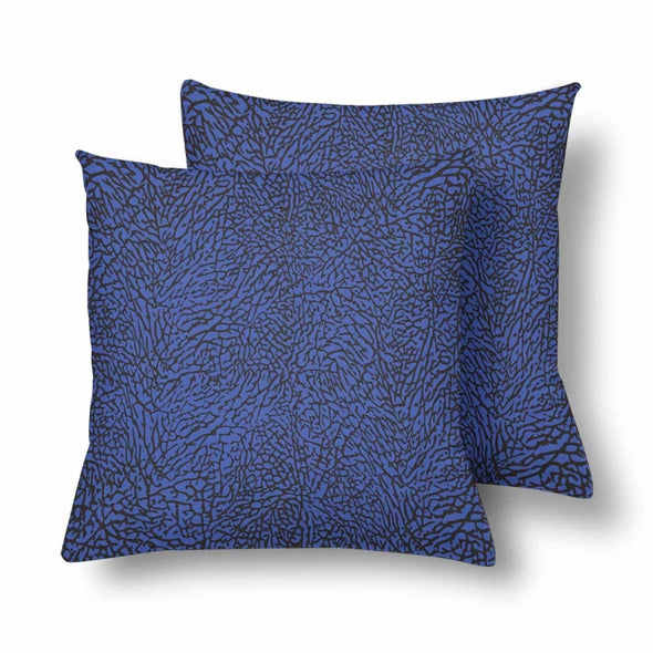 18 x 18 Throw Pillows (2) - Custom Elephant Pattern - Blue Elephant - Housewares elephants housewares pillows