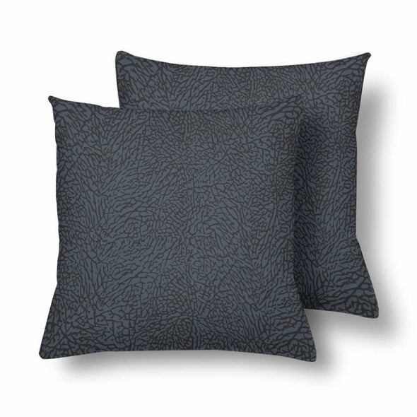 18 x 18 Throw Pillows (2) - Custom Elephant Pattern - Charcoal Elephant - Housewares elephants housewares pillows