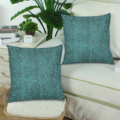 18 x 18 Throw Pillows (2) - Custom Elephant Pattern - Housewares elephants housewares pillows