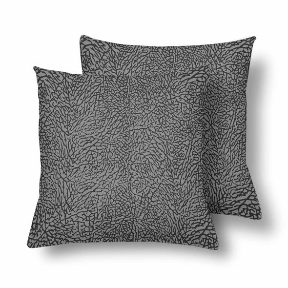 18 x 18 Throw Pillows (2) - Custom Elephant Pattern - Gray Elephant - Housewares elephants housewares pillows
