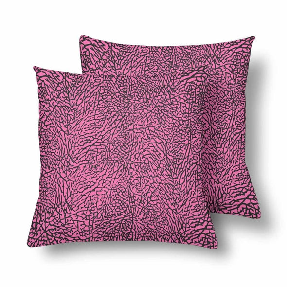 18 x 18 Throw Pillows (2) - Custom Elephant Pattern - Hot Pink Elephant - Housewares elephants housewares pillows