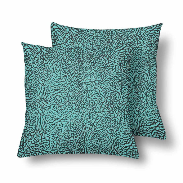 18 x 18 Throw Pillows (2) - Custom Elephant Pattern - Turquoise Elephant - Housewares elephants housewares pillows