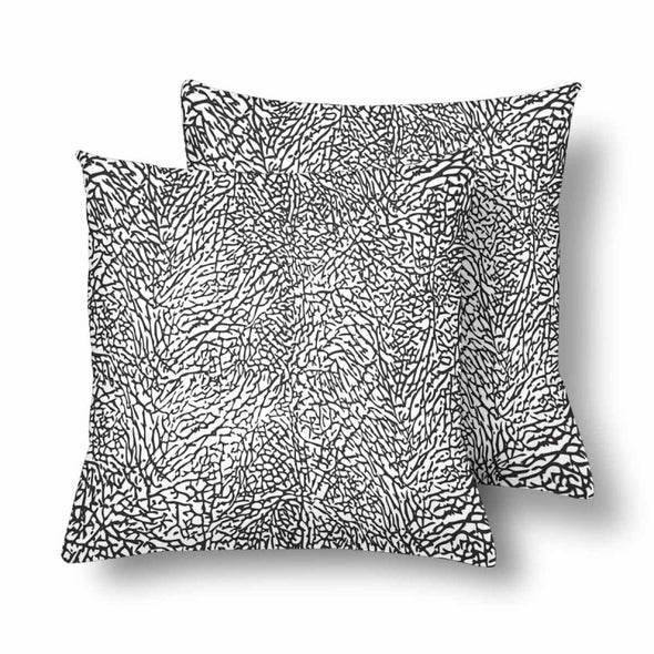 18 x 18 Throw Pillows (2) - Custom Elephant Pattern - White Elephant - Housewares elephants housewares pillows