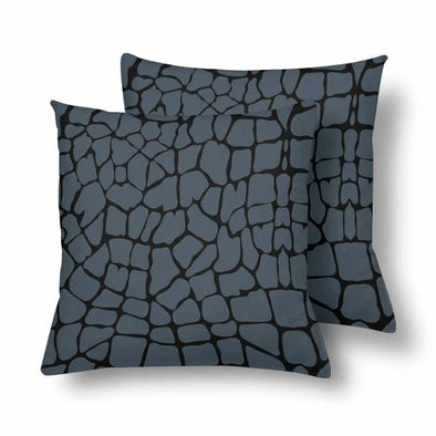18 x 18 Throw Pillows (2) - Custom Giraffe Pattern - Charcoal Giraffe - Housewares giraffes hot new items housewares pillows