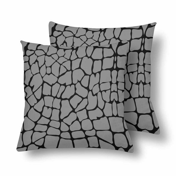 18 x 18 Throw Pillows (2) - Custom Giraffe Pattern - Gray Giraffe - Housewares giraffes hot new items housewares pillows