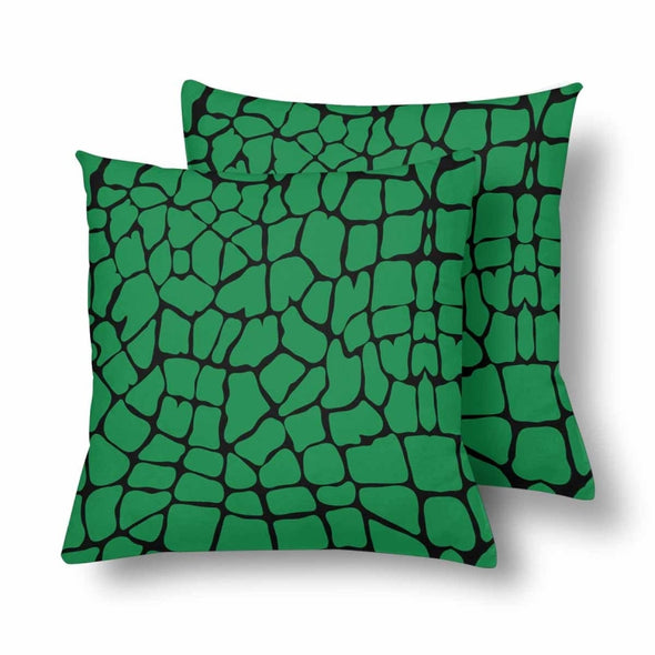 18 x 18 Throw Pillows (2) - Custom Giraffe Pattern - Green Giraffe - Housewares giraffes hot new items housewares pillows