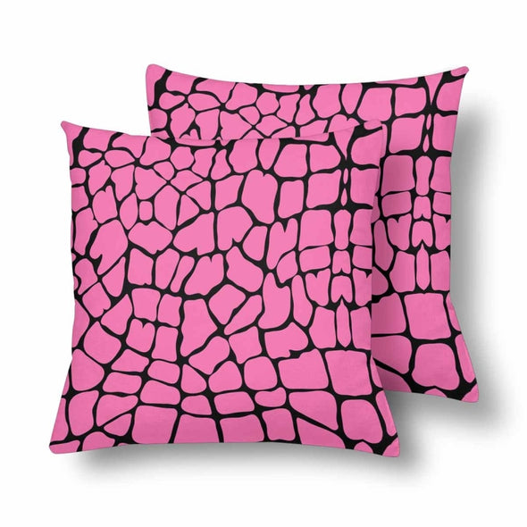 18 x 18 Throw Pillows (2) - Custom Giraffe Pattern - Pink Giraffe - Housewares giraffes hot new items housewares pillows