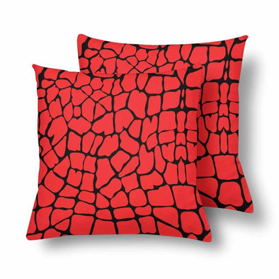 18 x 18 Throw Pillows (2) - Custom Giraffe Pattern - Red Giraffe - Housewares giraffes hot new items housewares pillows