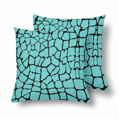 18 x 18 Throw Pillows (2) - Custom Giraffe Pattern - Turquoise Giraffe - Housewares giraffes hot new items housewares pillows