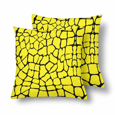 18 x 18 Throw Pillows (2) - Custom Giraffe Pattern - Yellow Giraffe - Housewares giraffes hot new items housewares pillows