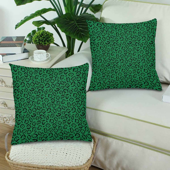 18 x 18 Throw Pillows (2) - Custom Jaguar Pattern - Housewares big cats housewares jaguars pillows