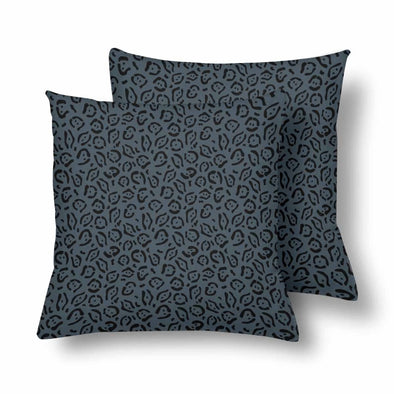 18 x 18 Throw Pillows (2) - Custom Jaguar Pattern - Charcoal Jaguar - Housewares big cats housewares jaguars pillows