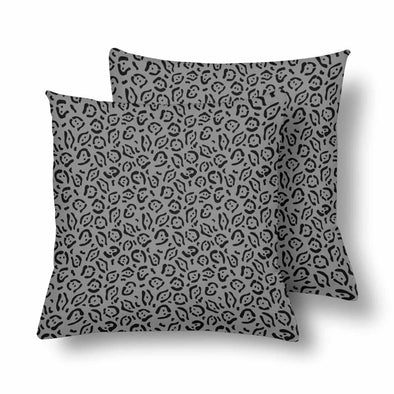 18 x 18 Throw Pillows (2) - Custom Jaguar Pattern - Gray Jaguar - Housewares big cats housewares jaguars pillows