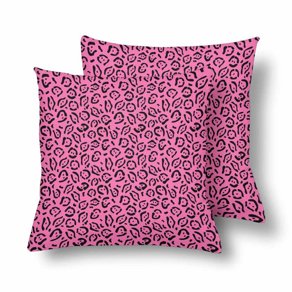 18 x 18 Throw Pillows (2) - Custom Jaguar Pattern - Hot Pink Jaguar - Housewares big cats housewares jaguars pillows