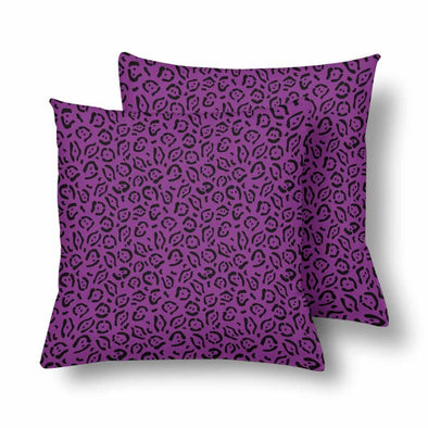 18 x 18 Throw Pillows (2) - Custom Jaguar Pattern - Purple Jaguar - Housewares big cats housewares jaguars pillows