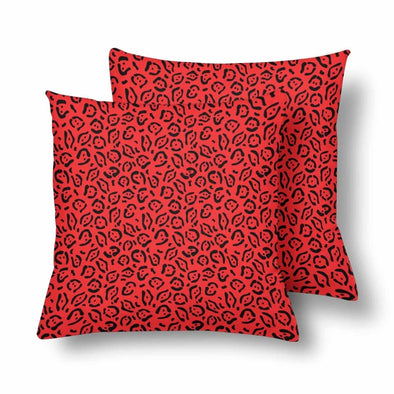 18 x 18 Throw Pillows (2) - Custom Jaguar Pattern - Red Jaguar - Housewares big cats housewares jaguars pillows