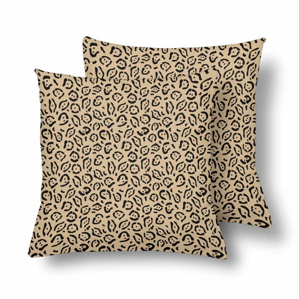 18 x 18 Throw Pillows (2) - Custom Jaguar Pattern - Tan Jaguar - Housewares big cats housewares jaguars pillows