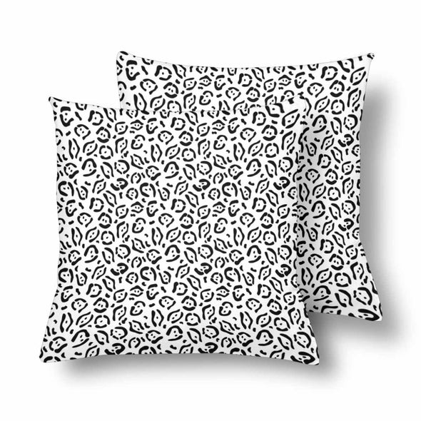 18 x 18 Throw Pillows (2) - Custom Jaguar Pattern - White Jaguar - Housewares big cats housewares jaguars pillows